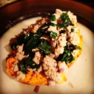 Turkey, kale, sweet potato